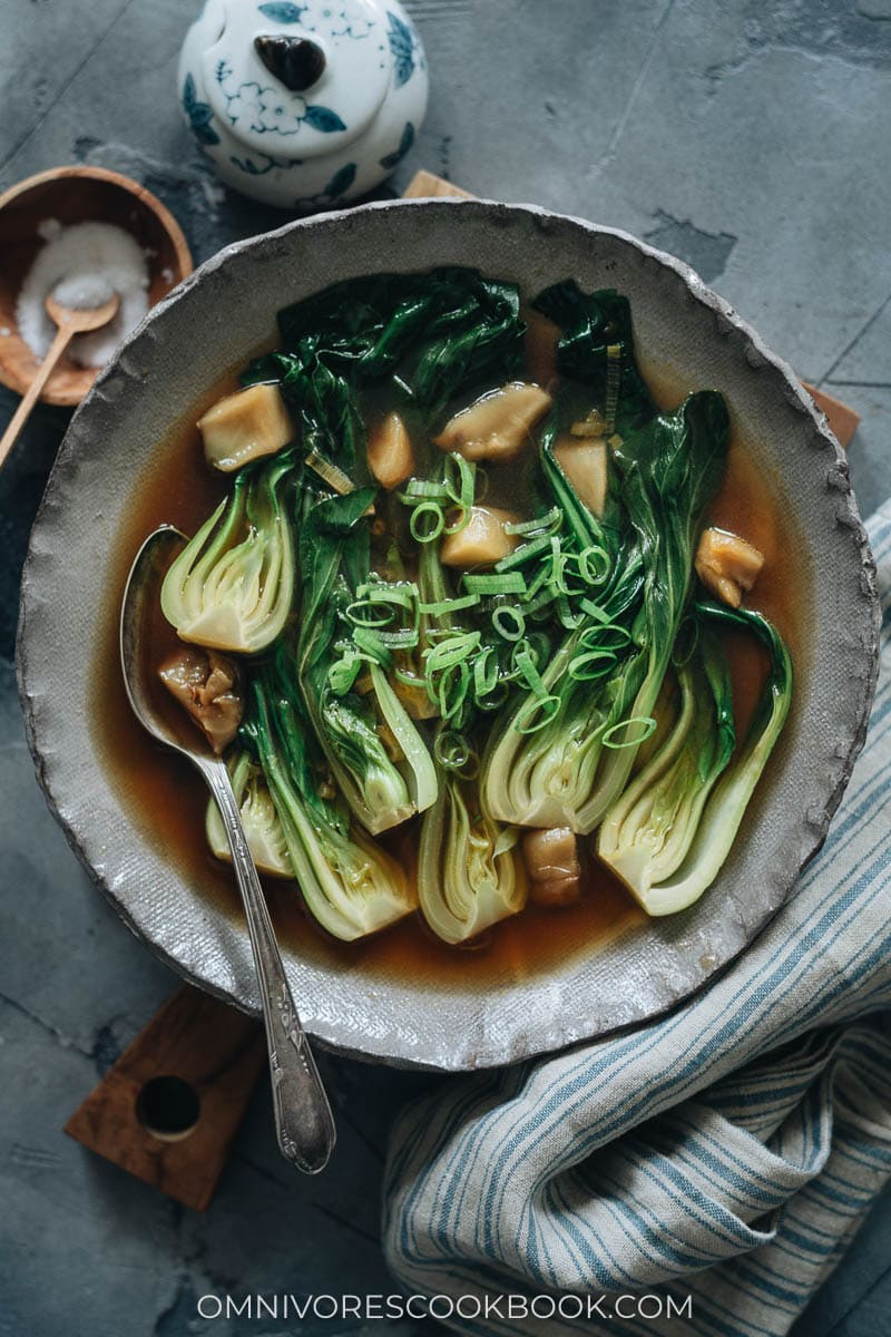 Chinese bok choy soup
