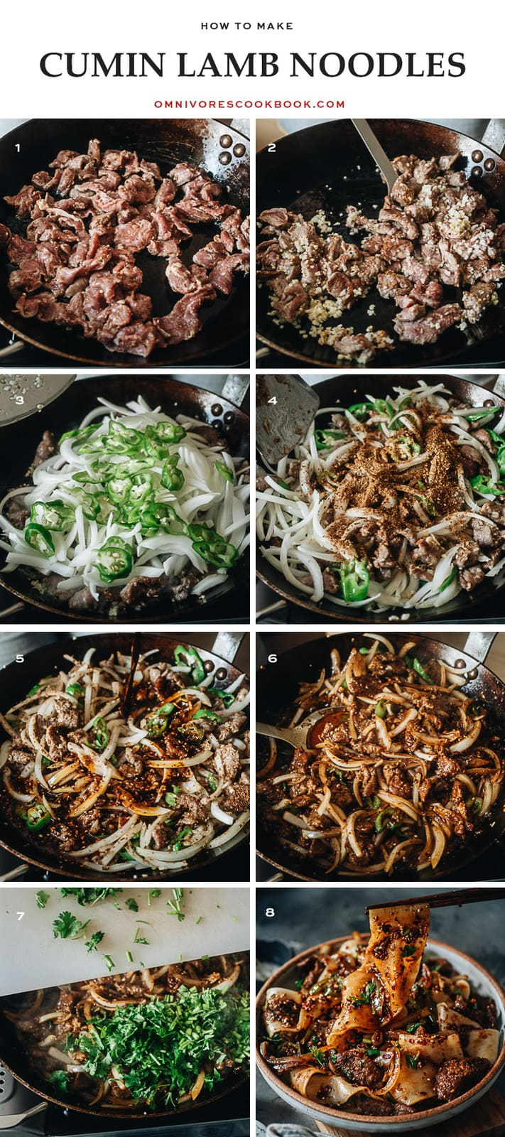 How to cook cumin lamb noodles step-by-step