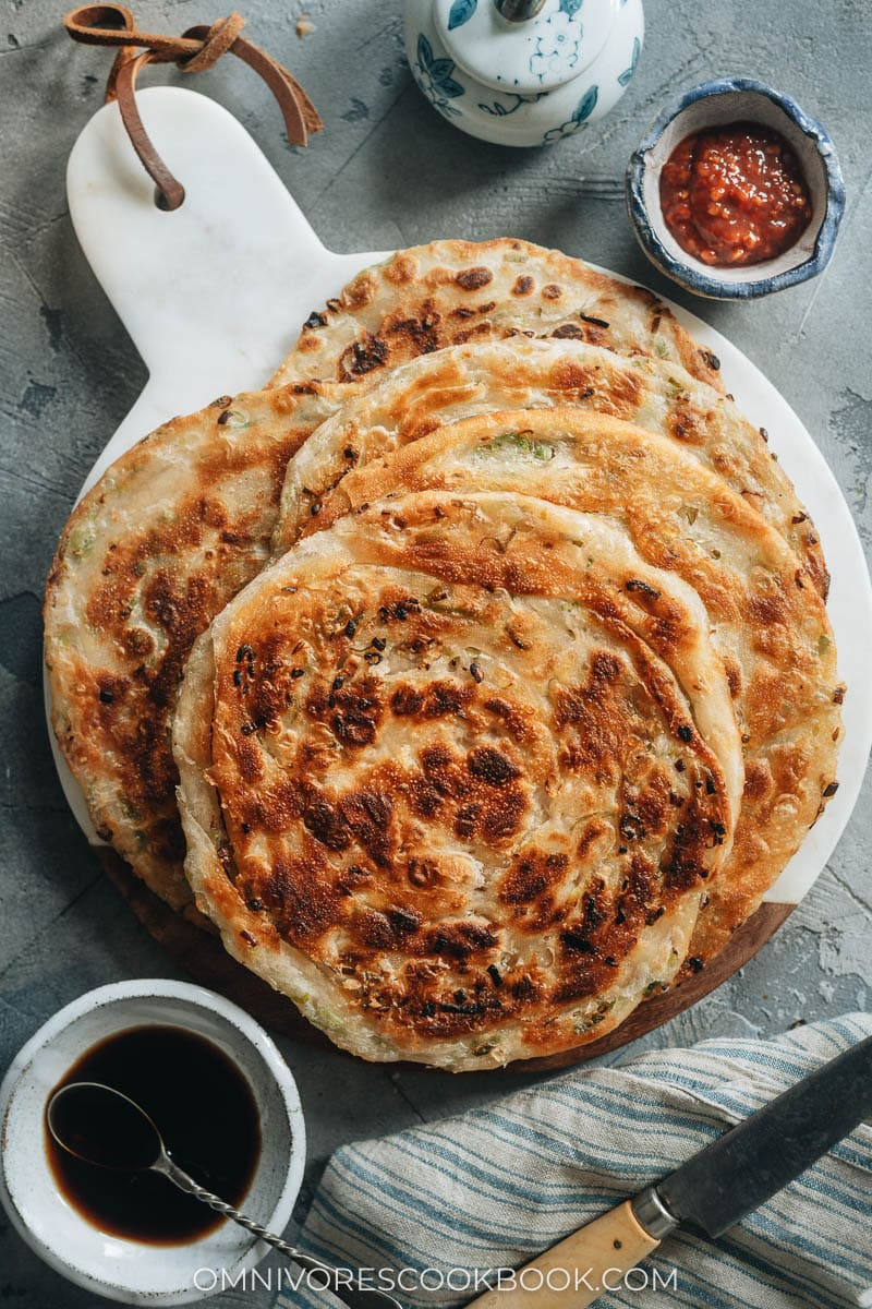Restaurant-style scallion pancakes