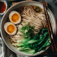 This comforting soy sauce noodles dish comes together in minutes with simple ingredients that satisfy any time of day!