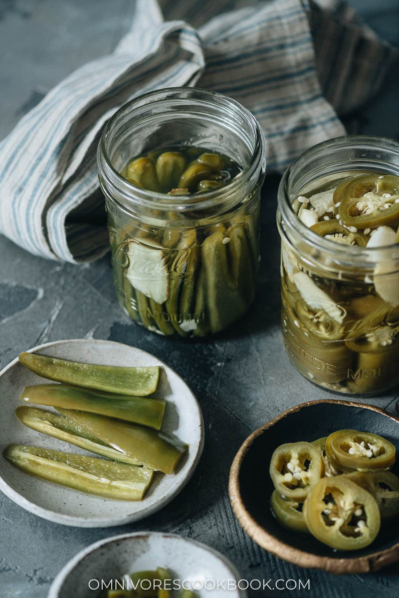 Chinese pickled jalapeno peppers