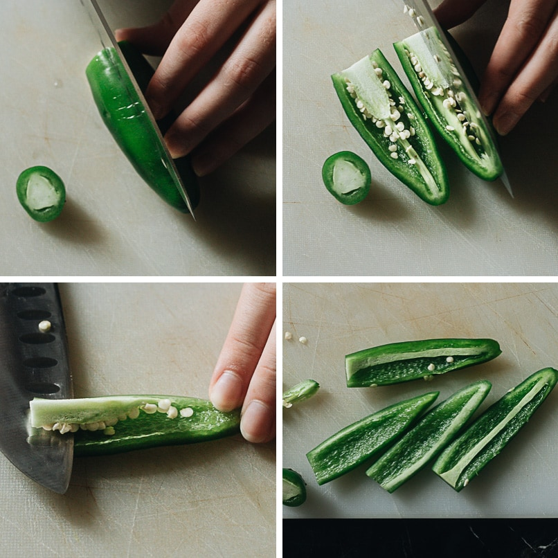 How to cut jalapeno for pickling