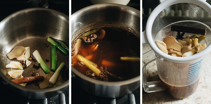 Making master sauce step-by-step
