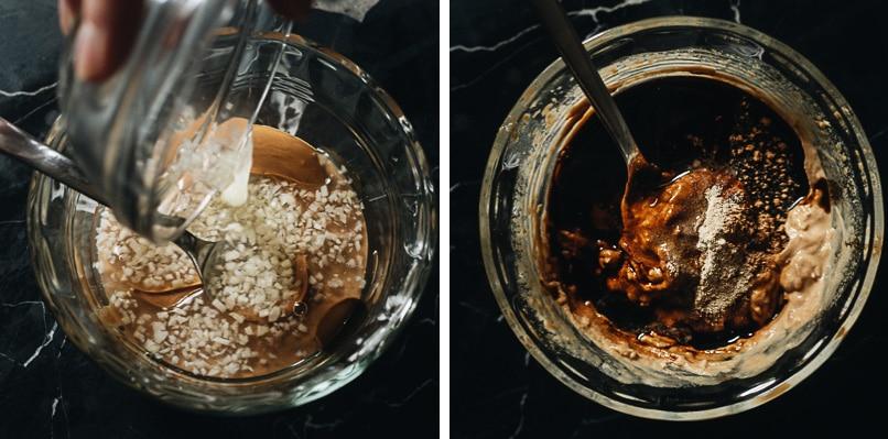 Mixing noodle sauce