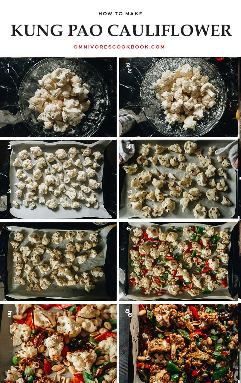 How to make kung pao cauliflower step-by-step