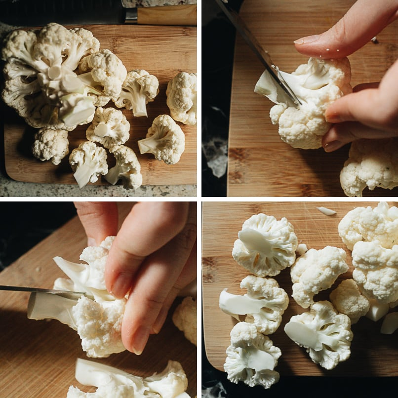 How to cut cauliflower for roasting