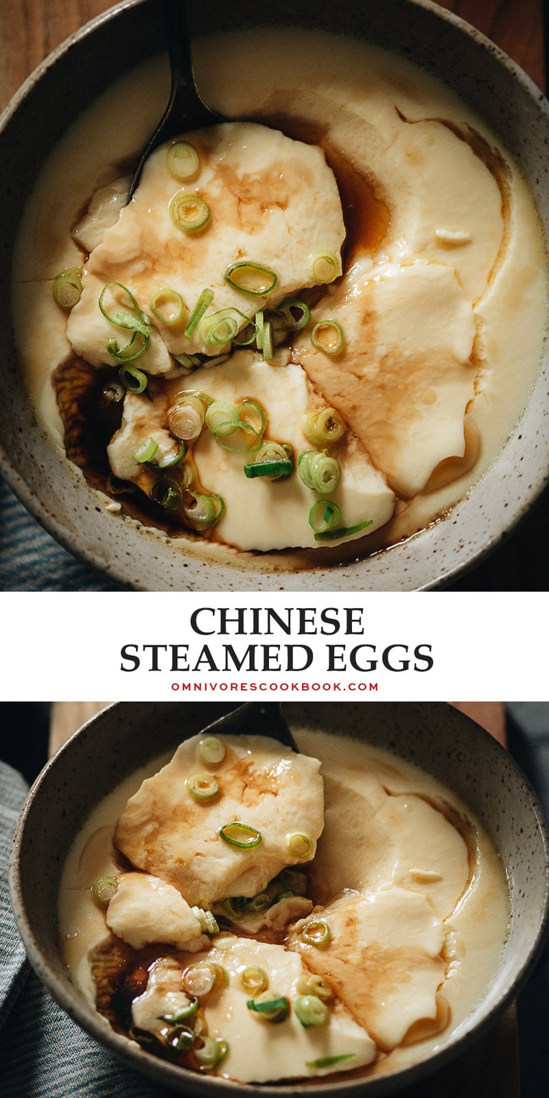 These homestyle Chinese steamed eggs give you a new way to enjoy one of the most versatile proteins there is, with their simple flavor and smooth, silky texture that you'll love. {Gluten-Free}