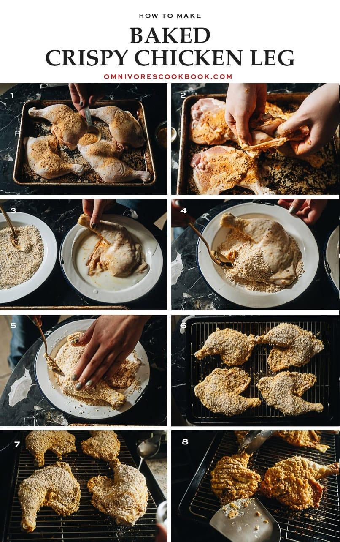 How to make crispy baked chicken legs
