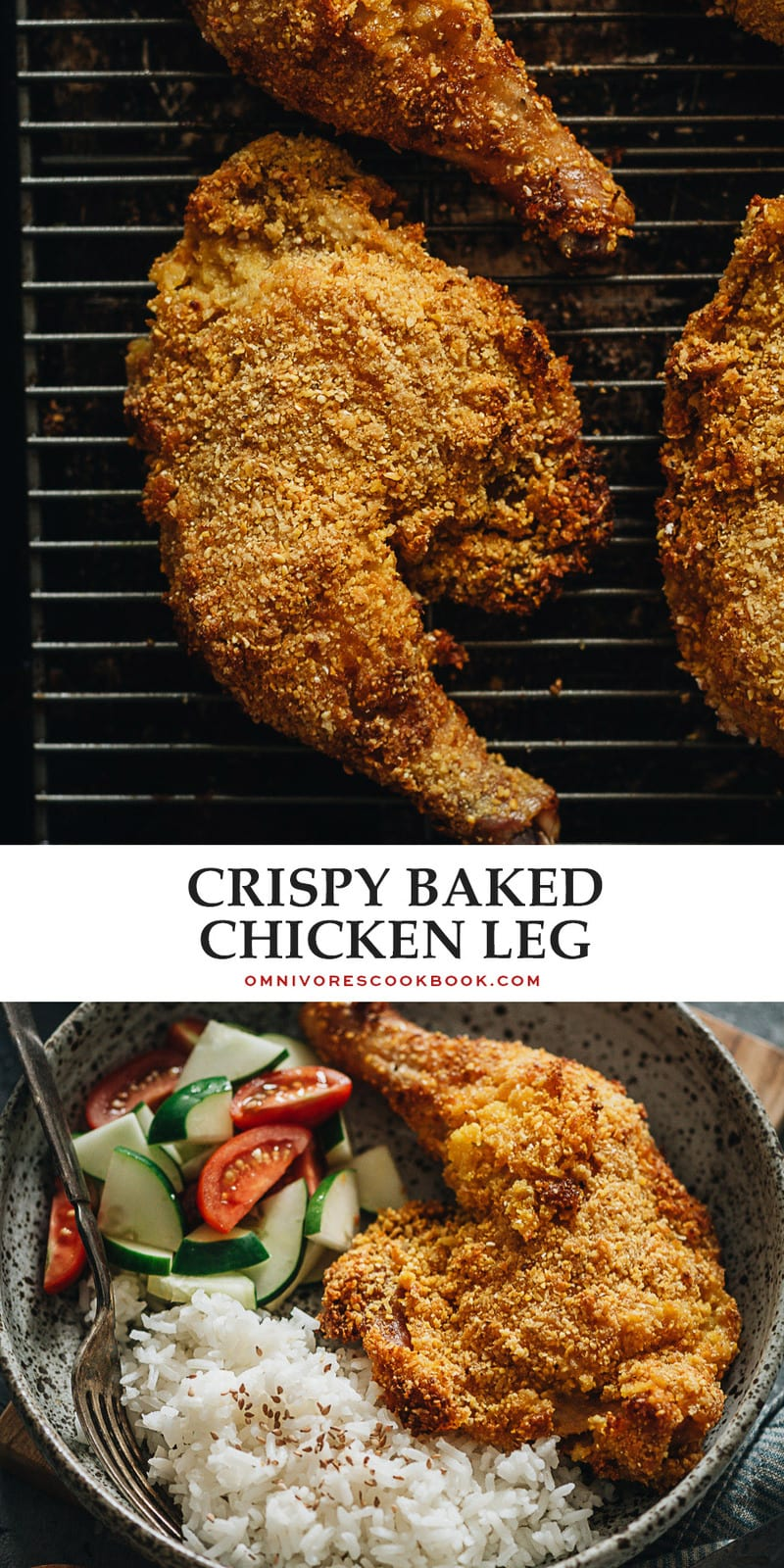 Crispy baked chicken legs give you the juicy crispiness of fried chicken without all the frying, for a comforting and delicious meal everyone will love! {Gluten-Free Adaptable}