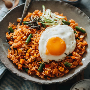 Kimchi fried rice with sunny side egg