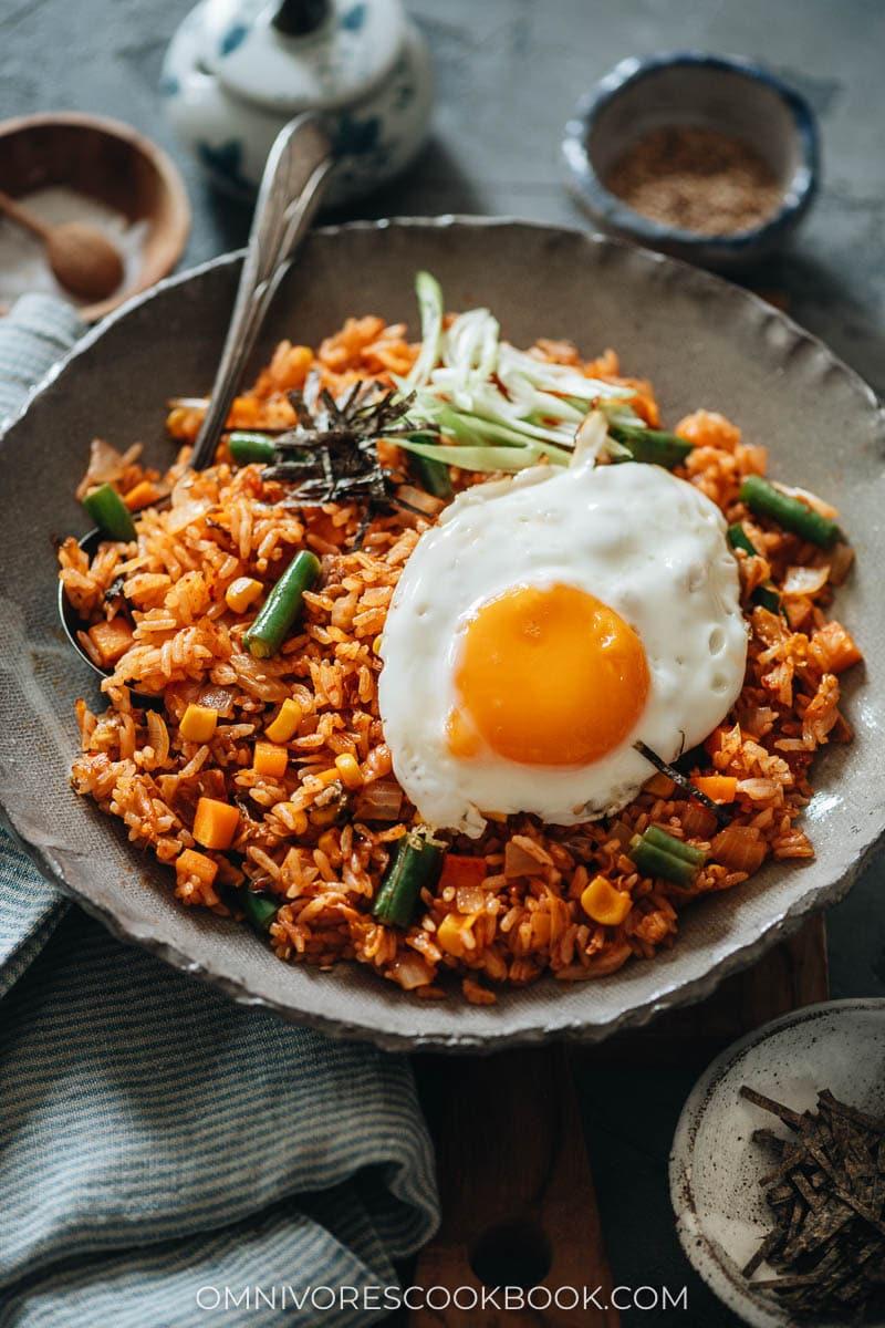 Kimchi fried rice with sunny side egg