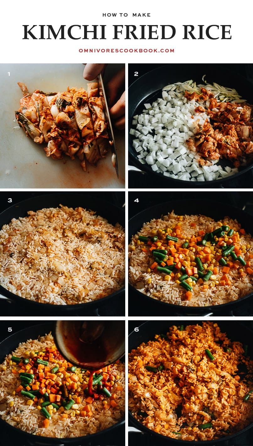 How to make kimchi fried rice step-by-step