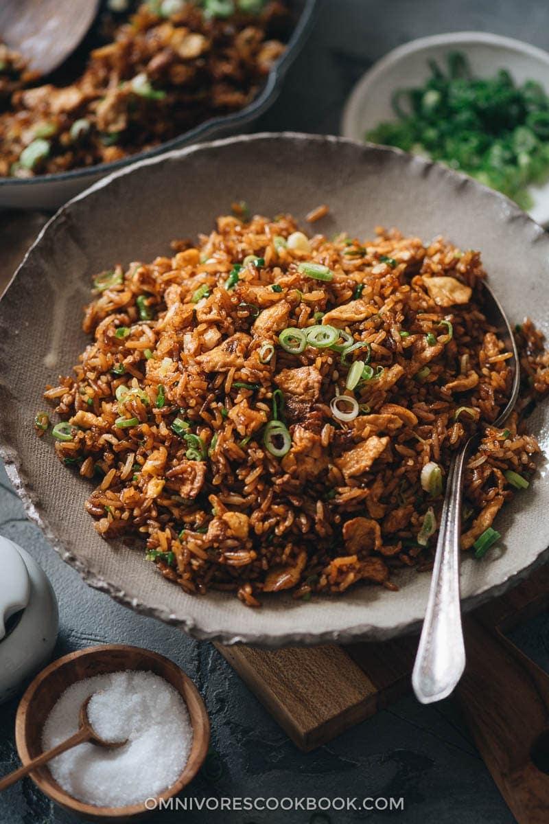 Soy Sauce Fried Rice (酱油炒饭)