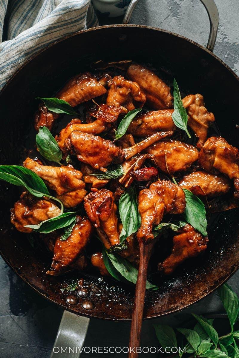 Chinese Mid-Autumn Festival Menu - Three Cup Chicken (三杯鸡)