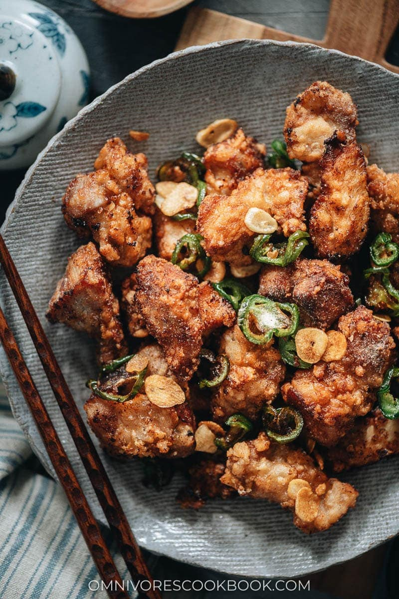 Chinese Mid-Autumn Festival Menu - Salt and Pepper Pork Chops (椒盐猪排)