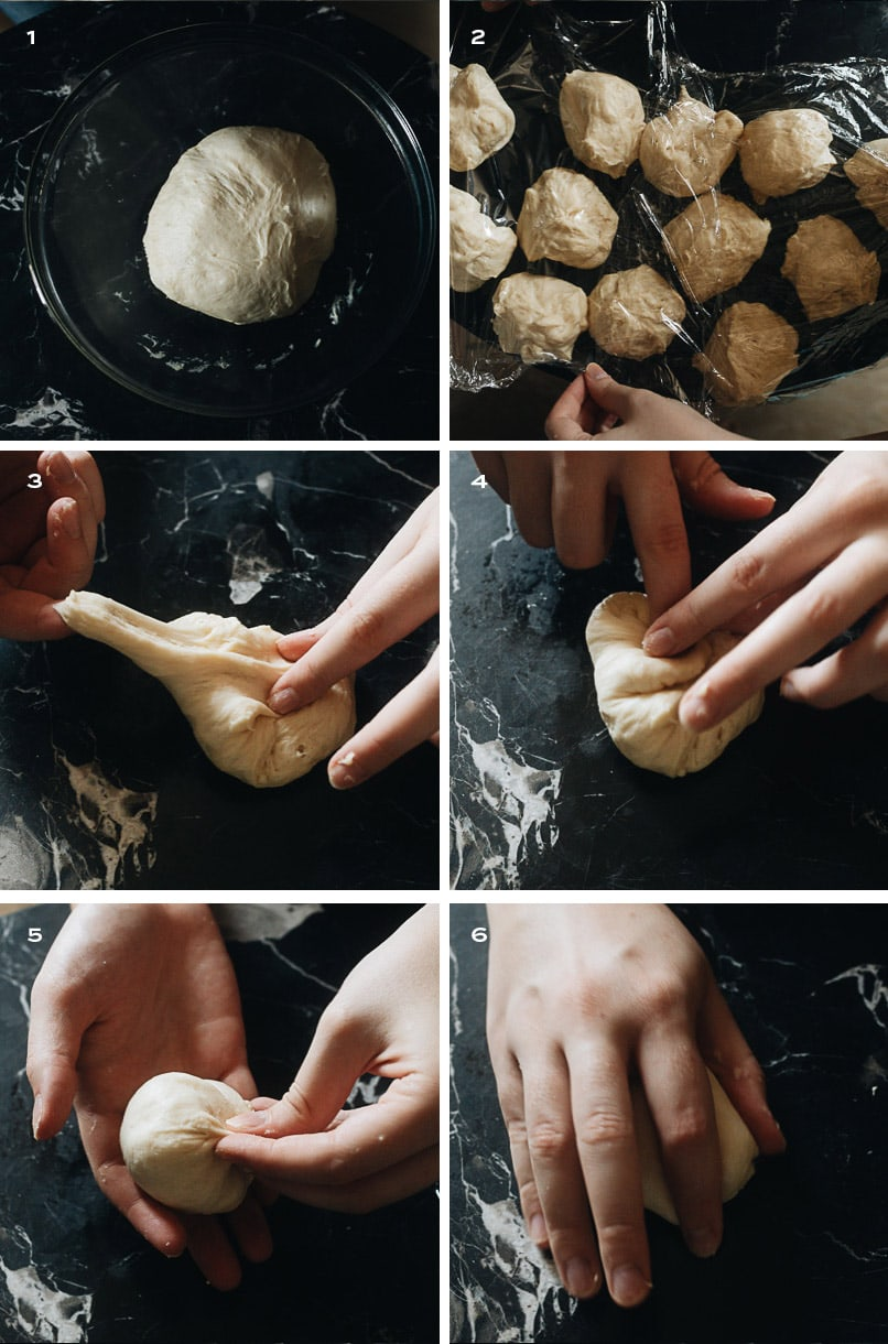 Shaping char siu bao dough