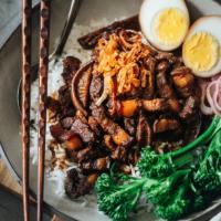 Taiwanses pork rice bowl