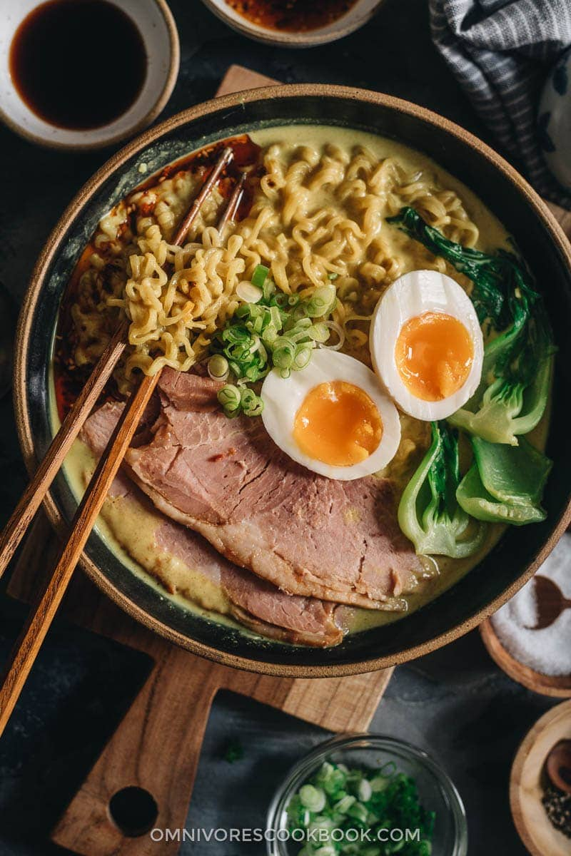 Curry Ramen with Ham