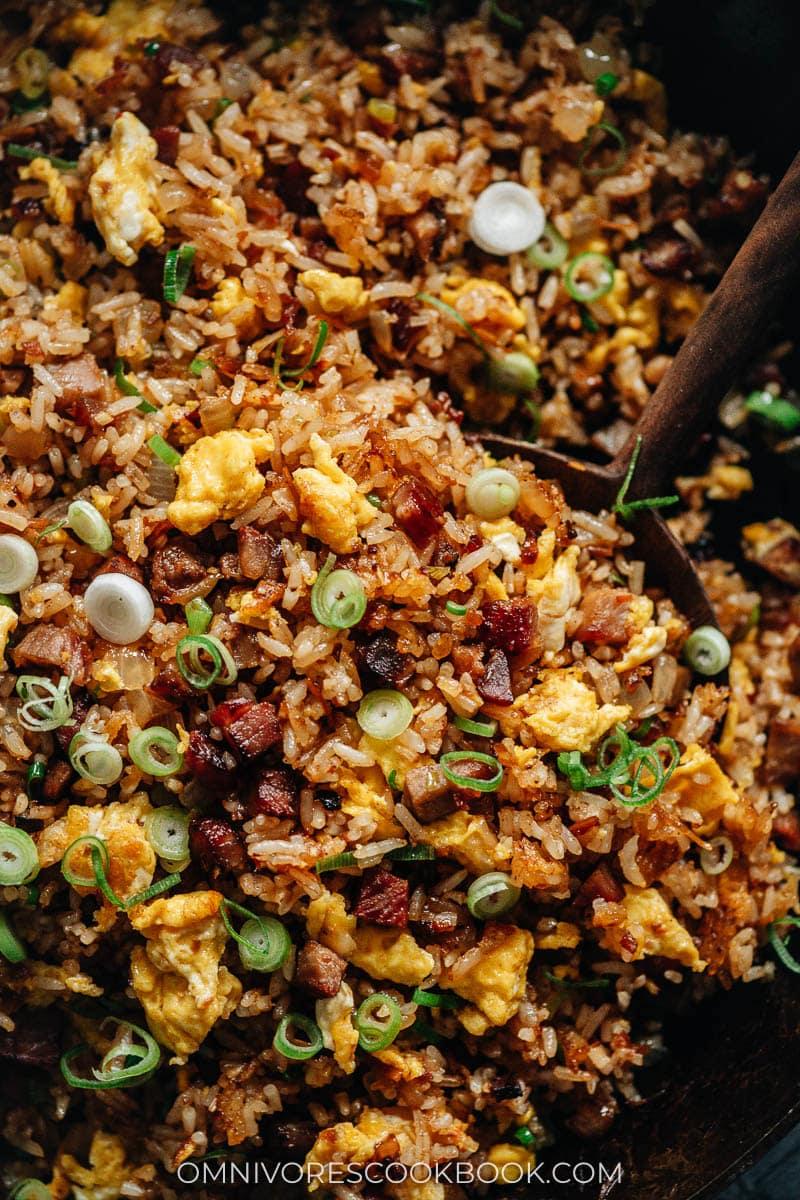 XO fried rice close-up
