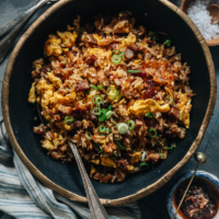 XO sauce fried rice with char siu pork