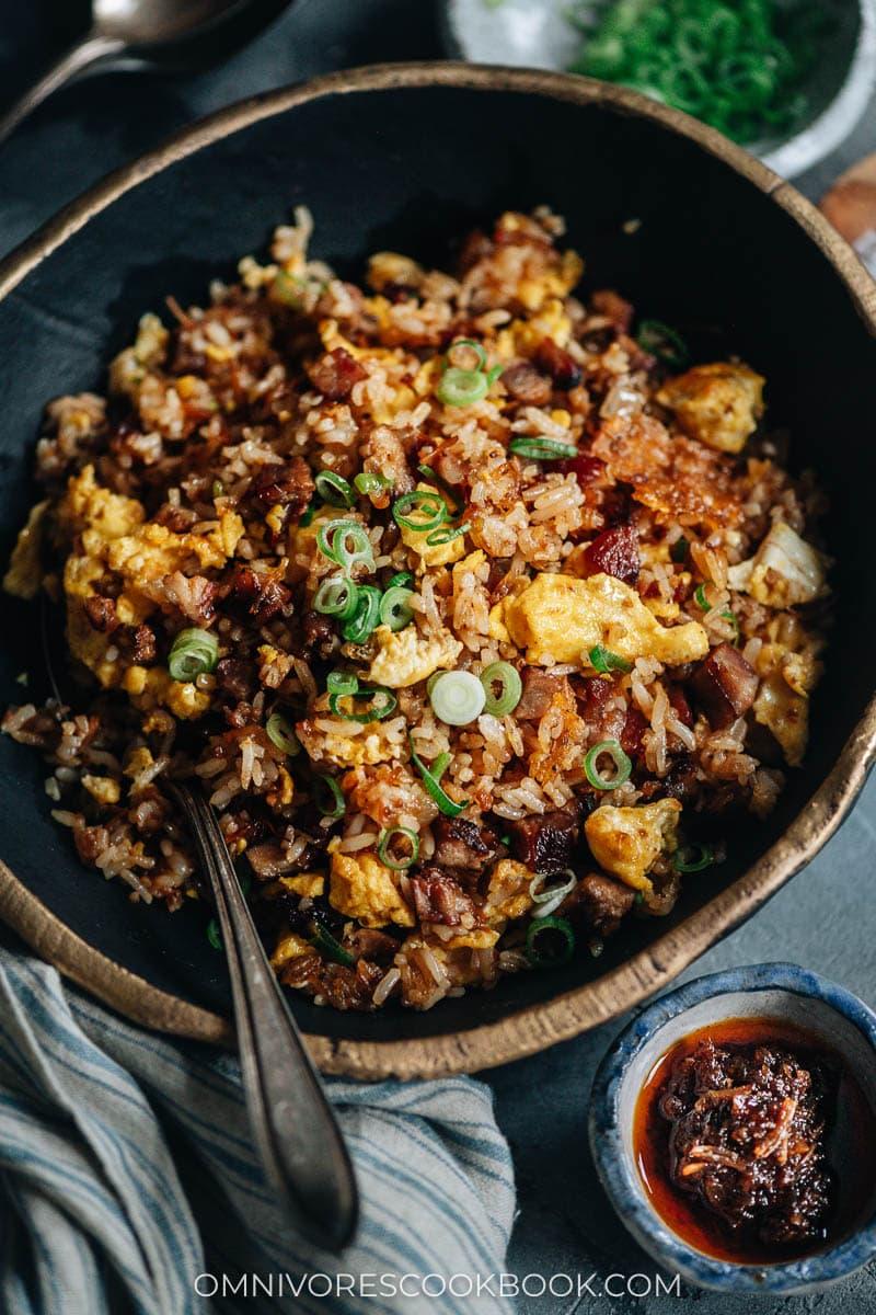 Homemade fried rice with XO sauce