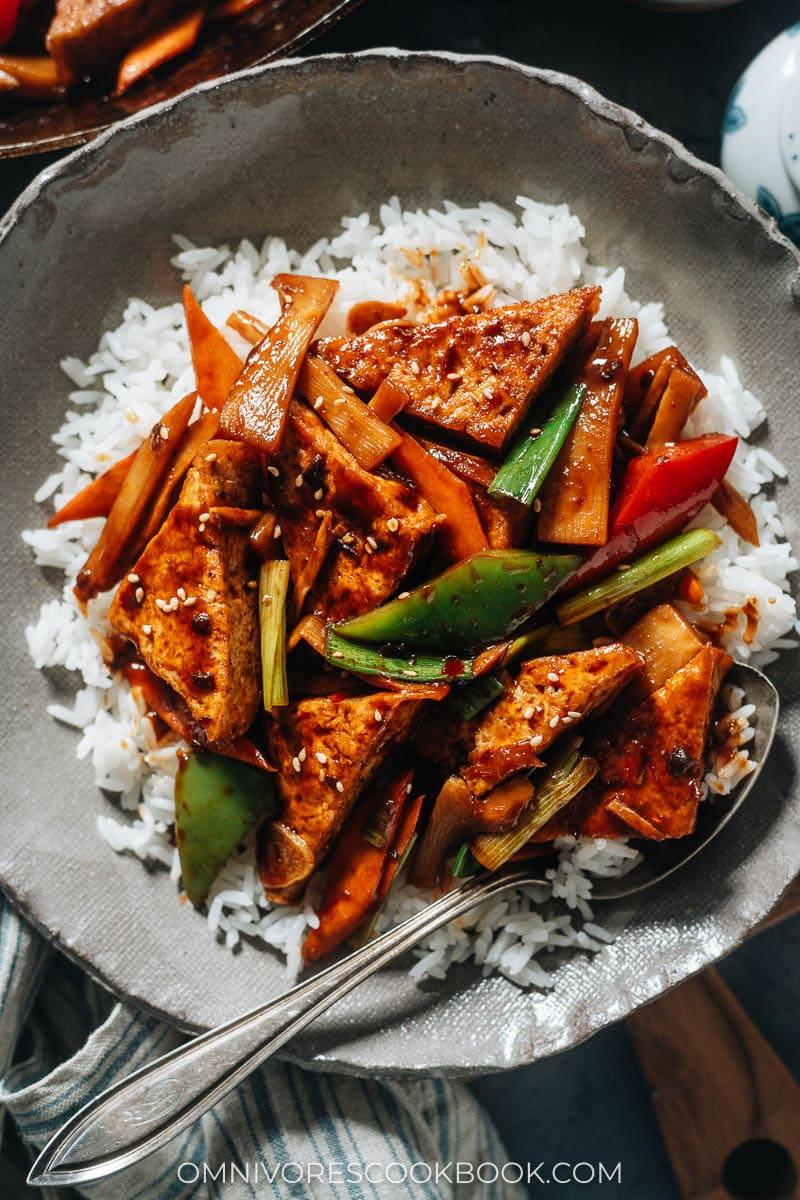Jia Chang tofu over rice