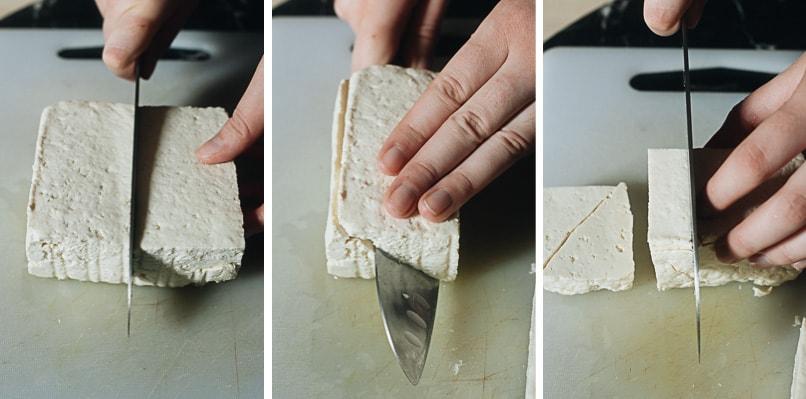How to cut tofu for stir fry