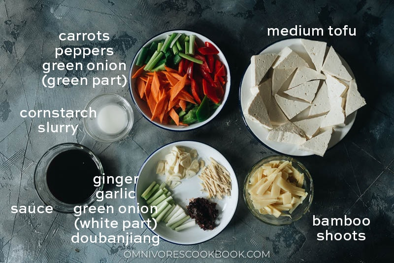 Ingredients for making home style tofu