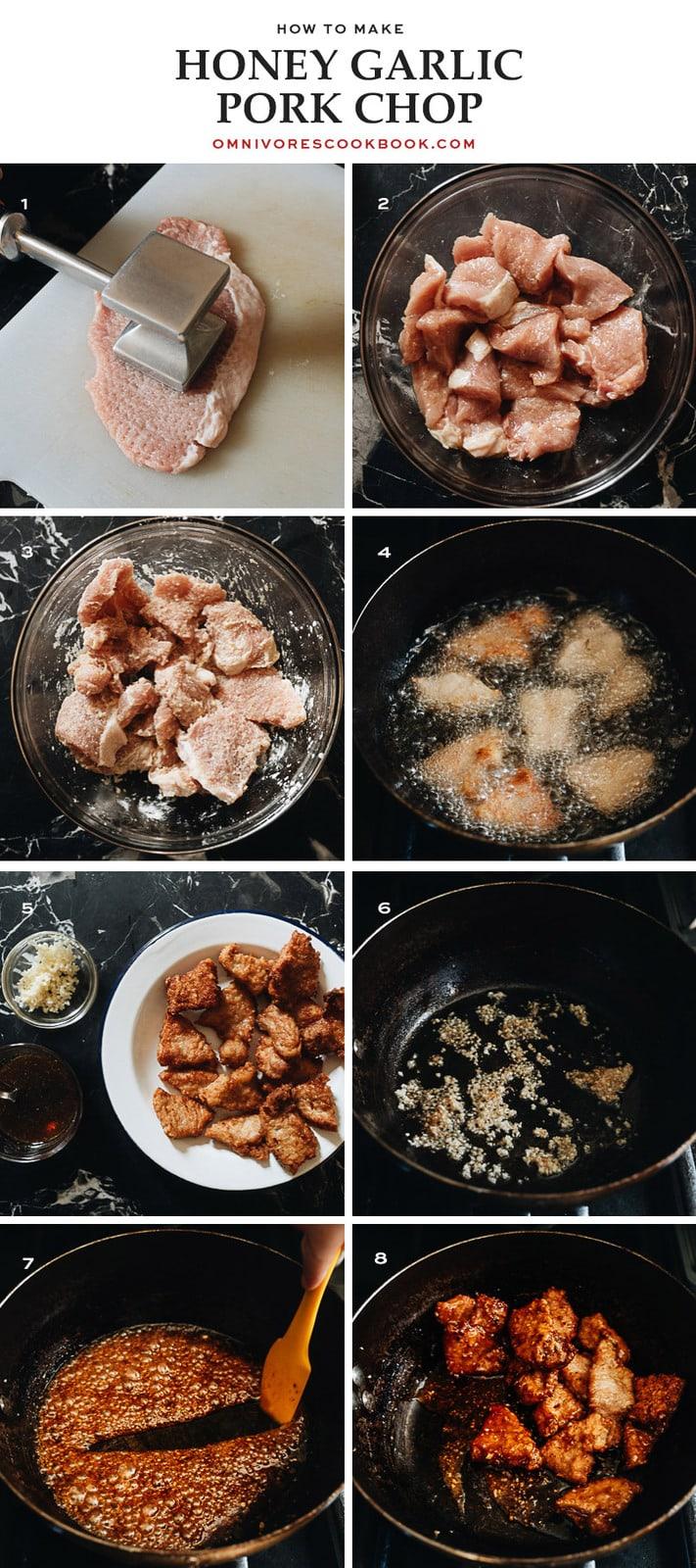 How to make honey garlic pork chop step-by-step