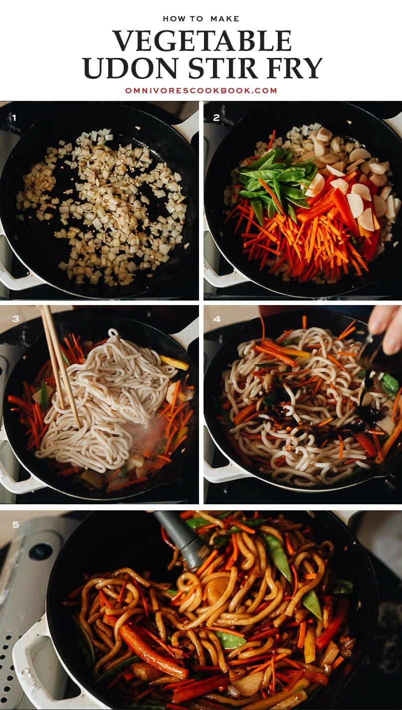 Vegan udon stir fry