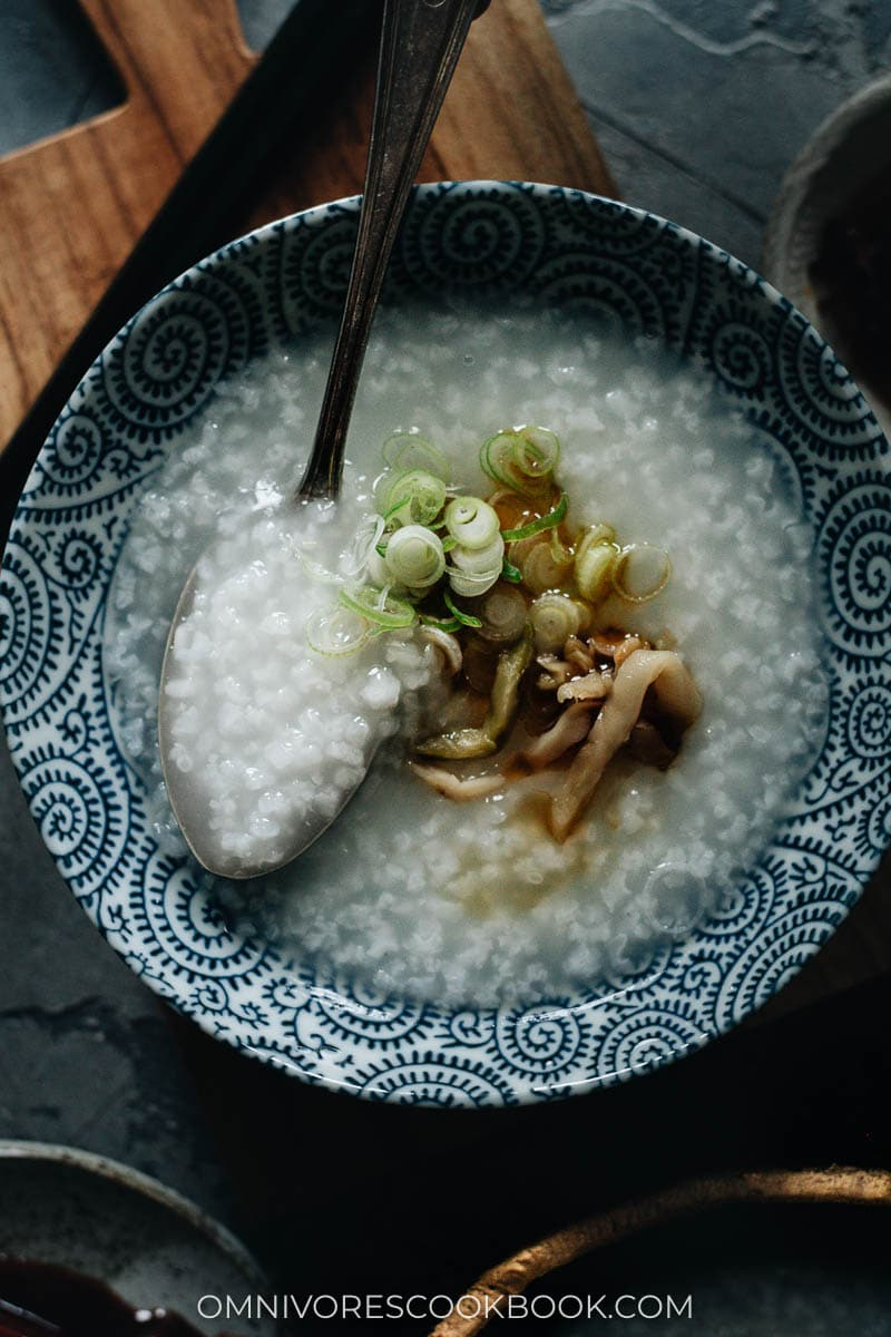 Plain congee texture (medium thick)