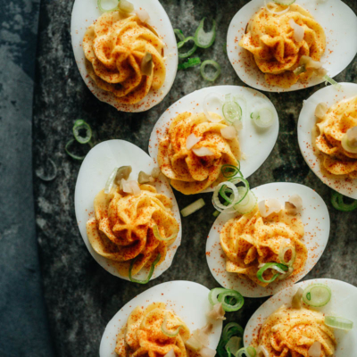 Chinese style deviled eggs