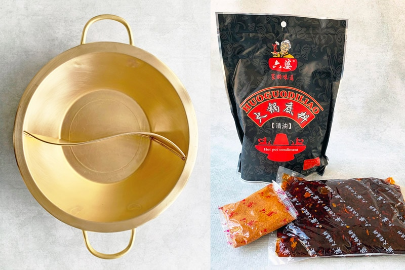 Giveaway prize - brass hot pot and hot pot base