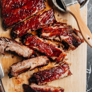 Delicious, fall-off-the-bone tender, and finger-licking good Chinese BBQ ribs are the way to shake things up for the holidays and other special occasions. Plus, they make delightful leftovers if you're lucky enough to have any left! {Gluten-Free Adaptable}