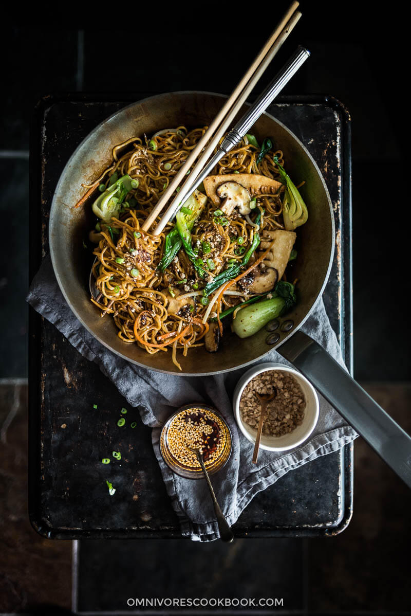 Vegetarian Chow Mein (素菜炒面)