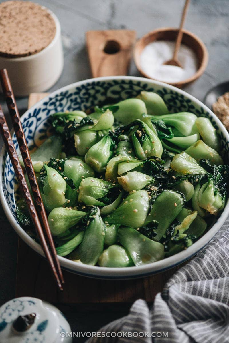 23 Vegan Chinese Recipes for Your Next Holiday Dinner Party - 4-Ingredient Baby Bok Choy Stir Fry