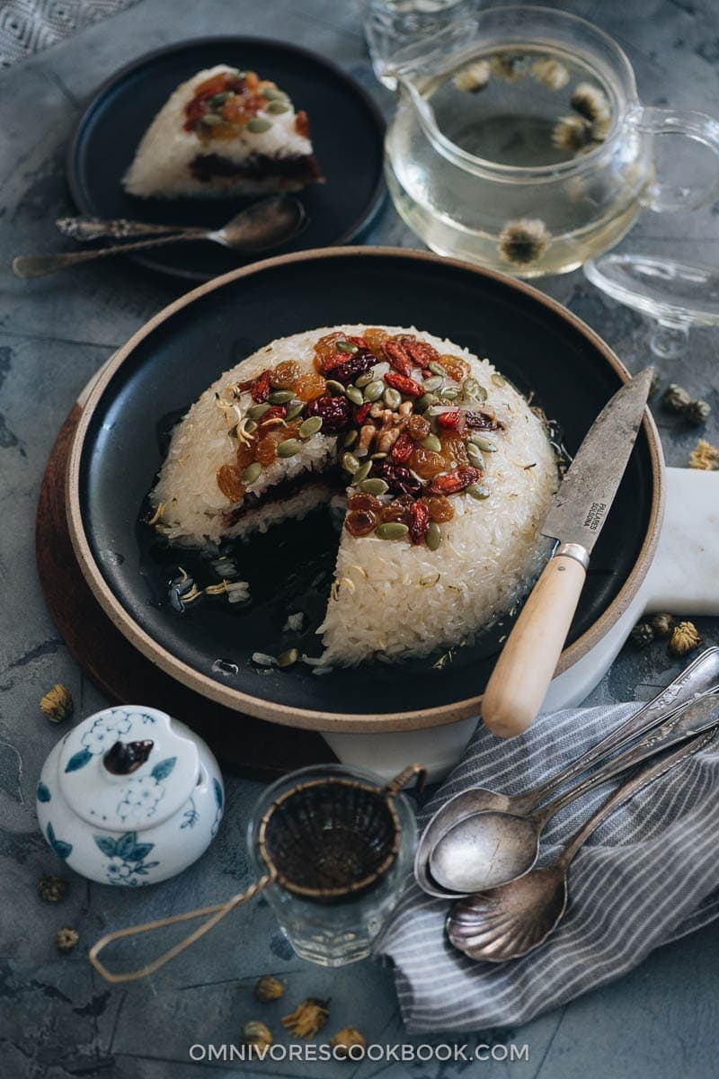 23 Vegan Chinese Recipes for Your Next Holiday Dinner Party - Eight Treasure Rice (八宝饭, Chinese Rice Pudding)