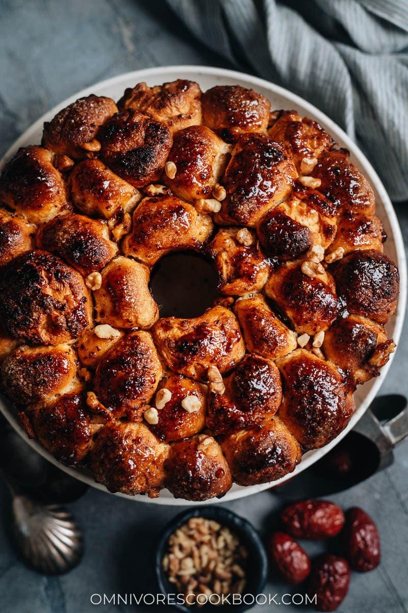 Crispy monkey bread in bundt pan