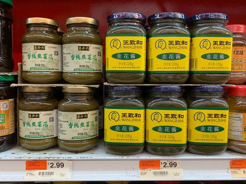 Chinese leek flower sauce in package