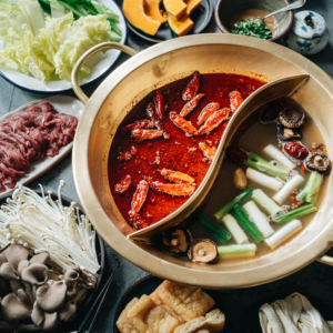 Restaurant-style Sichuan hot pot soup base has a super rich aroma and tastes like the ones you'd get in China. The finished base is a thick paste that can be portioned out easily and it's freezer friendly, making it a perfect edible holiday gift. {Vegan, Gluten-Free}