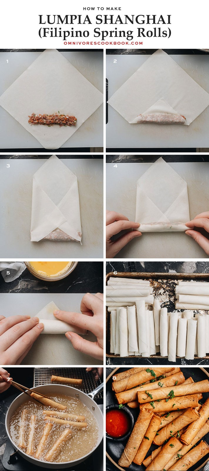 How to make Lumpia Shanghai step-by-step