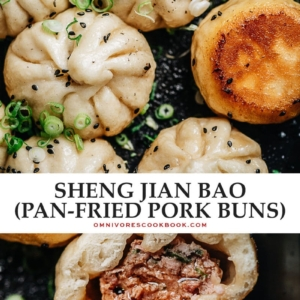 Try this recipe for sheng jian bao (Shanghai pan fried buns) - super juicy and incredibly flavorful pork stuffed into a fluffy yet crispy pan-fried wrapper that satisfies on every level.