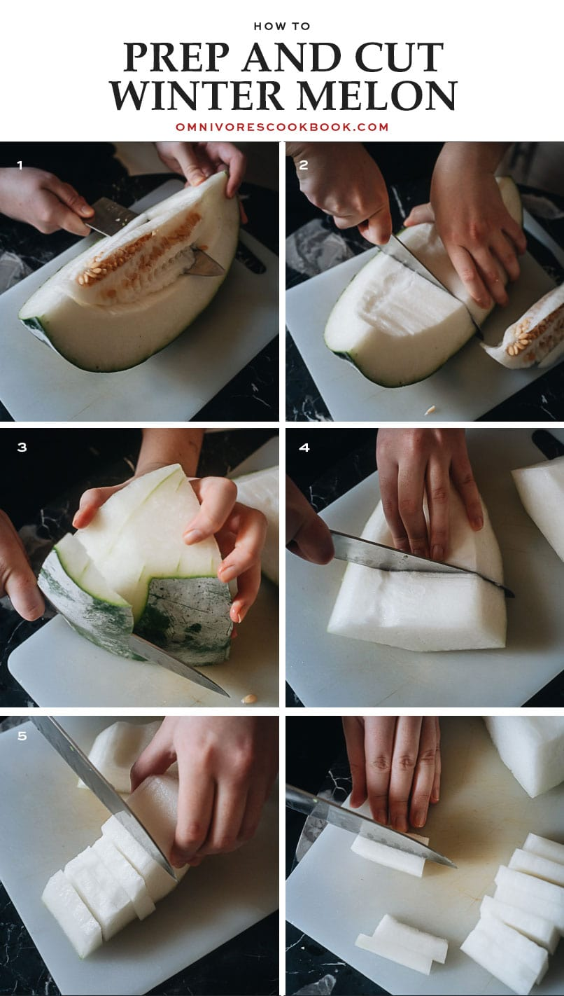 How to prep and cut winter melon
