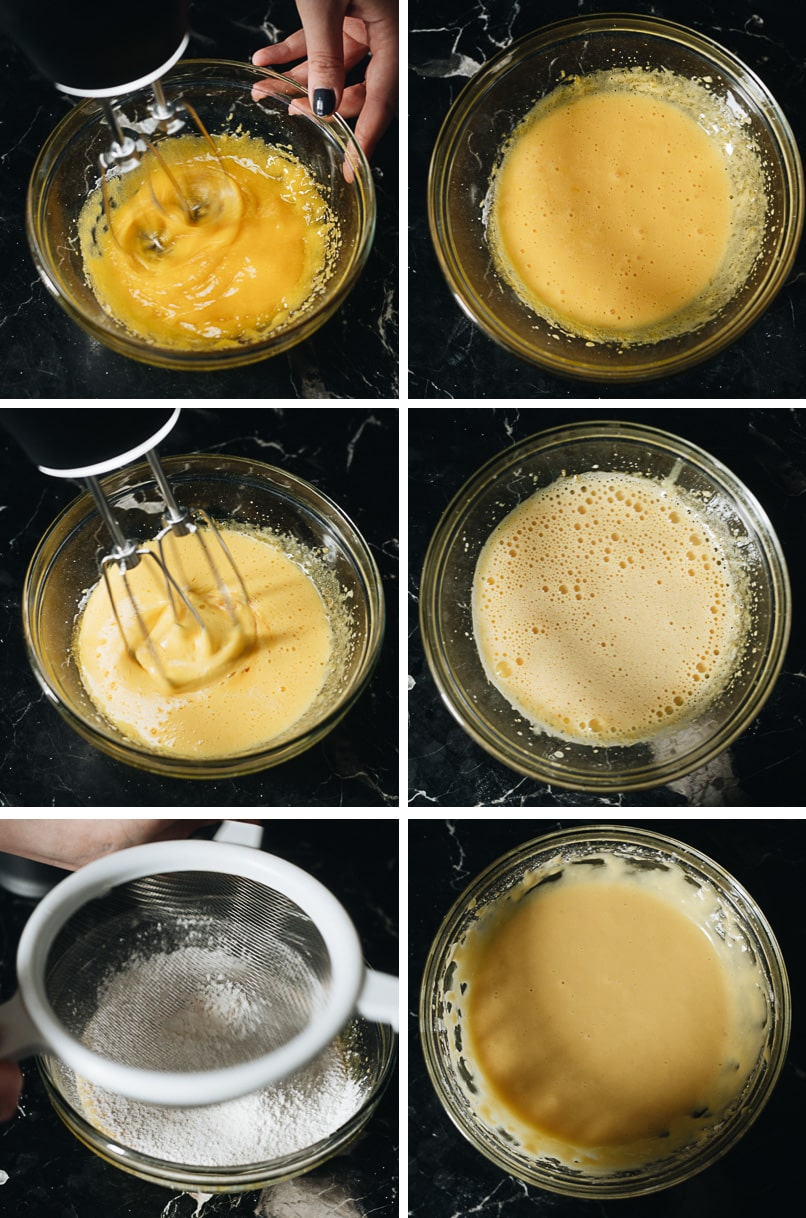 Making egg yolk mixture mixture step-by-step