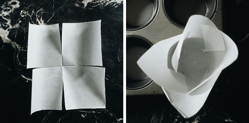 How to cut parchment paper for muffin tin