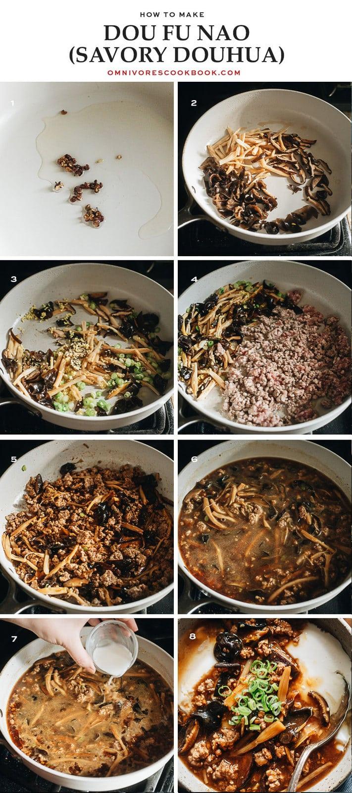 How to make Dou Fu Nao step-by-step