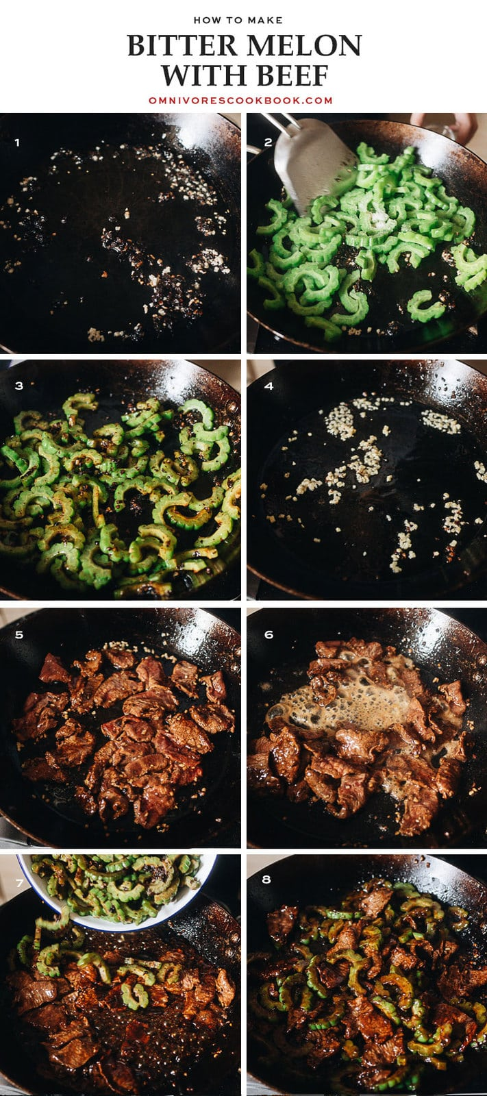How to cook beef with bitter melon step-by-step
