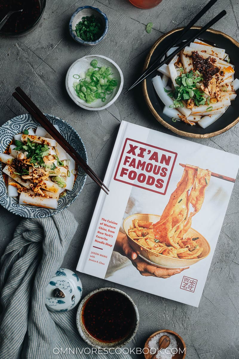 Homemade bean curd with Xi'an Famous Foods cookbook