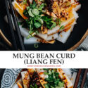 A traditional Chinese street food that's bursting with the flavors of a savory spicy sauce, liang fen is just what you need to bring a taste of China to your own kitchen this weekend! {Gluten-Free adaptable, Vegan}