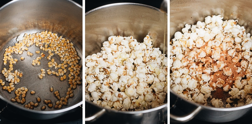 How to make popcorn step-by-step